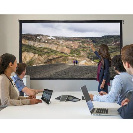 """GYMAX Ecran de Projecteur à Pieds 120"""" Écran de Projection avec Support Pliable Toile Cinéma Maison pour Intérieur ou Extérieur - image 4 de 10"""