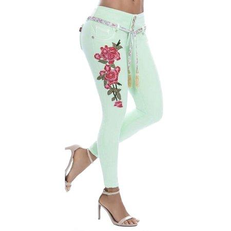 Denim Leggings For Women Boyfriend Plus Size Floral Print Slim Fit Jeans Stretch Skinny Jeans Casual Trousers Pants Floral Print Leggings