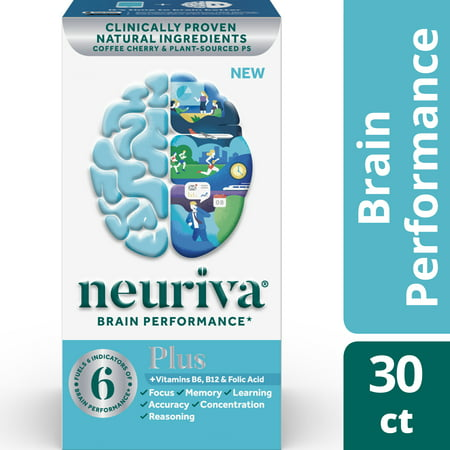 - Neuriva Plus (30 Count), Brain Performance Supplement
