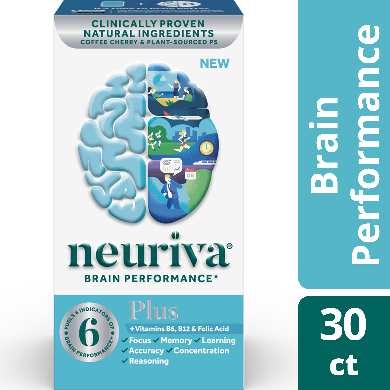 Neuriva Plus (30 Count), Brain Performance Supplement