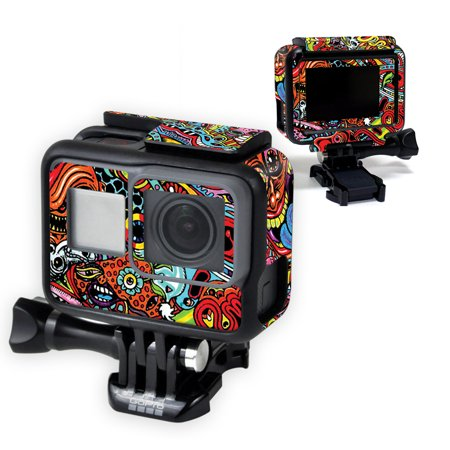 MightySkins Skin Compatible With GoPro Hero6 - Abstract Black | Protective, Durable, and Unique Vinyl Decal wrap cover | Easy To Apply, Remove, and Change Styles | Made in the (D Va Skin Heroes Of The Storm)