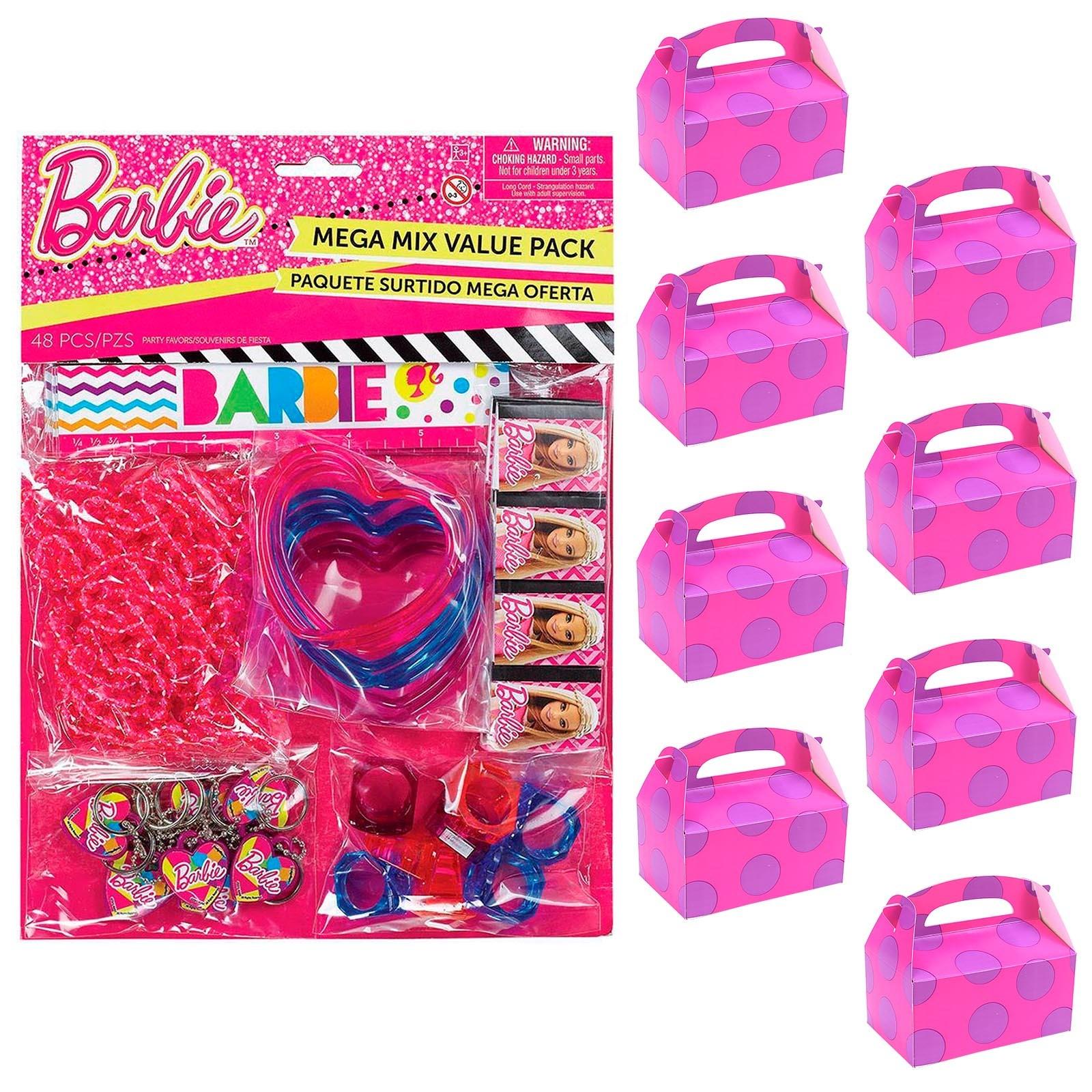 Barbie Filled Favor Box Kit (For 8 Guests)