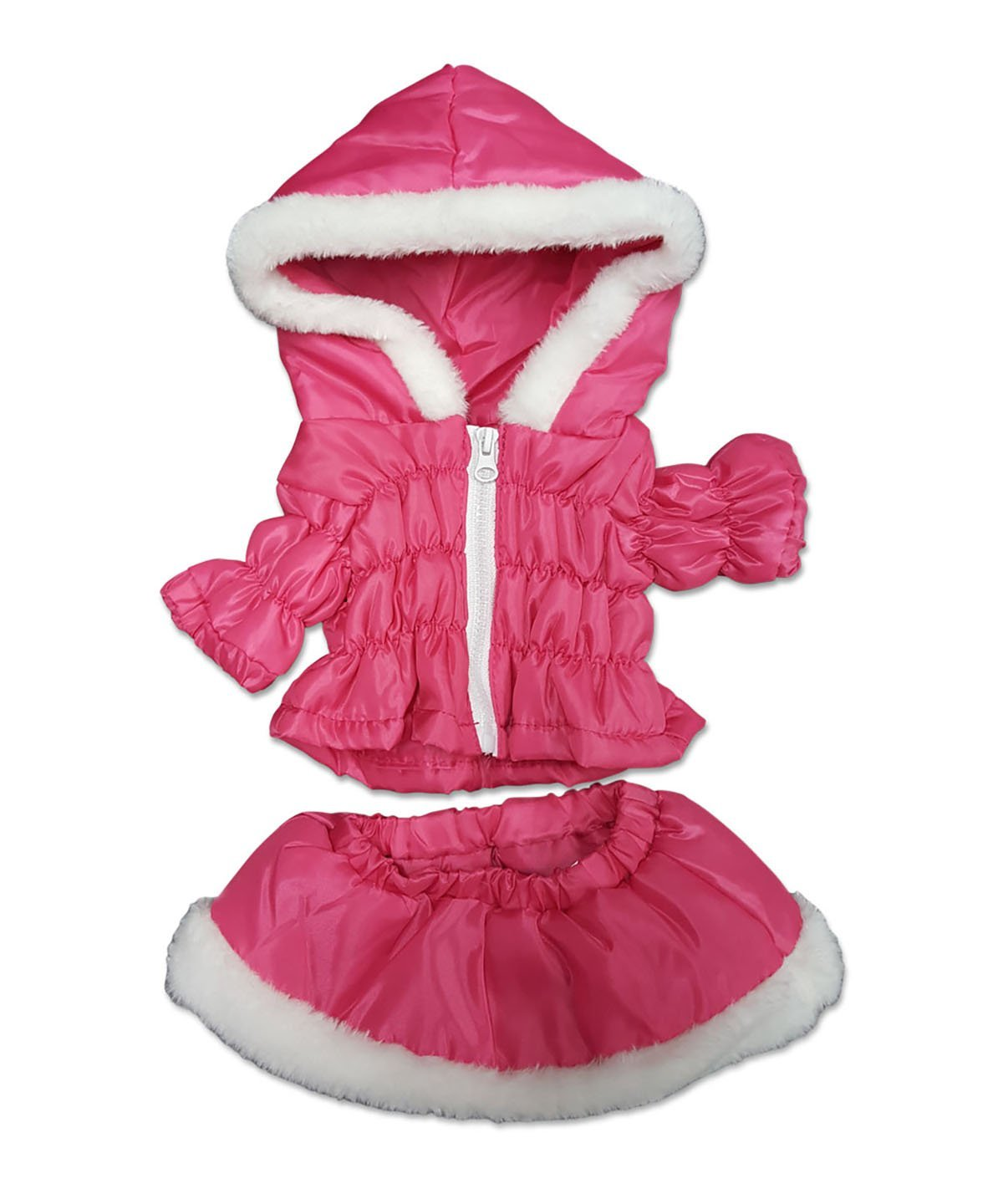 "Hot Pink Parka and Skirt Outfit Fits Most 14"" 18"" Build-a-bear, Vermont Teddy... by BF"