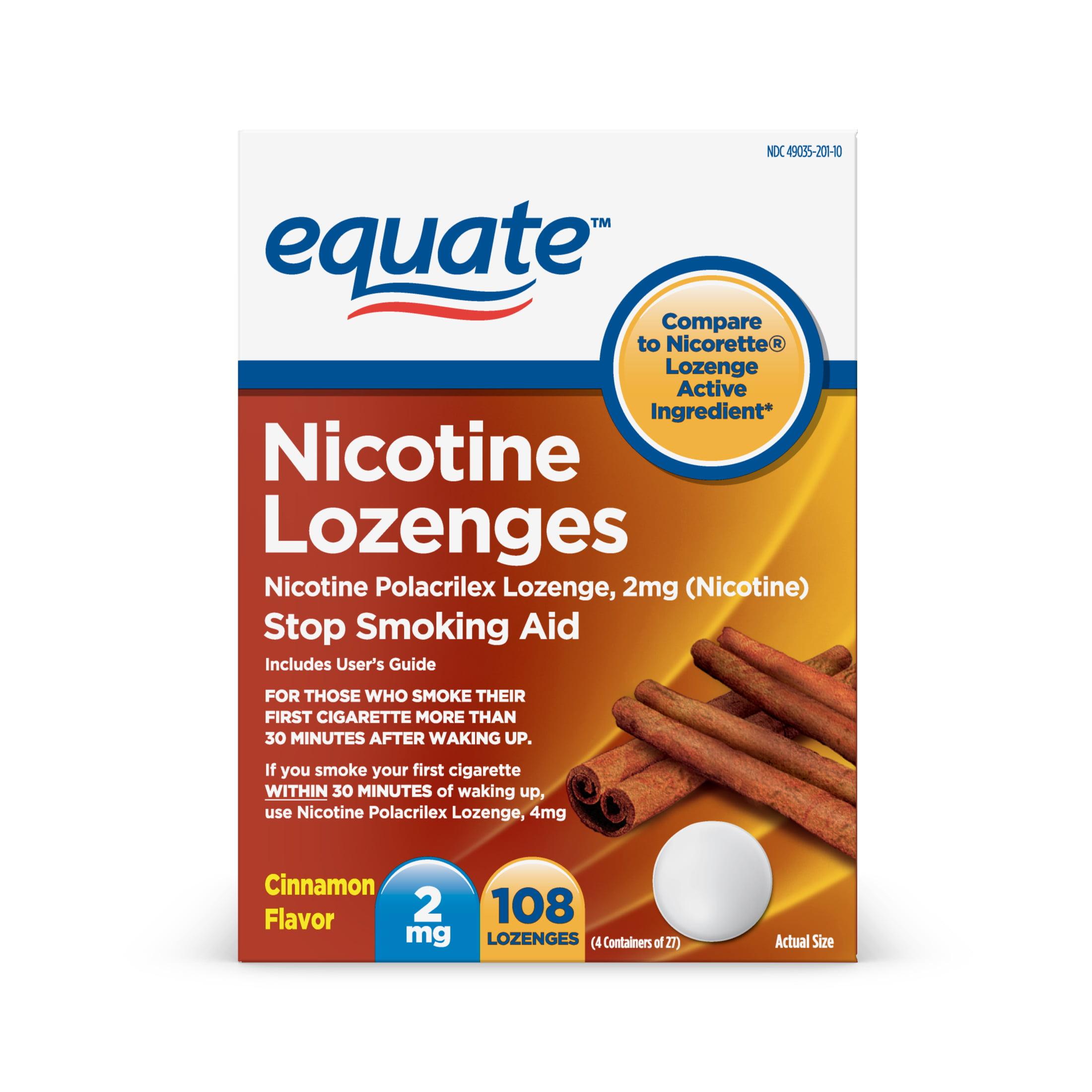 Equate Nicotine Cinnamon Flavor Lozenges, 2 mg, 108 Count
