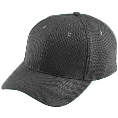 Augusta Sportswear Adjustable Wicking Mesh Cap, Black, One Size