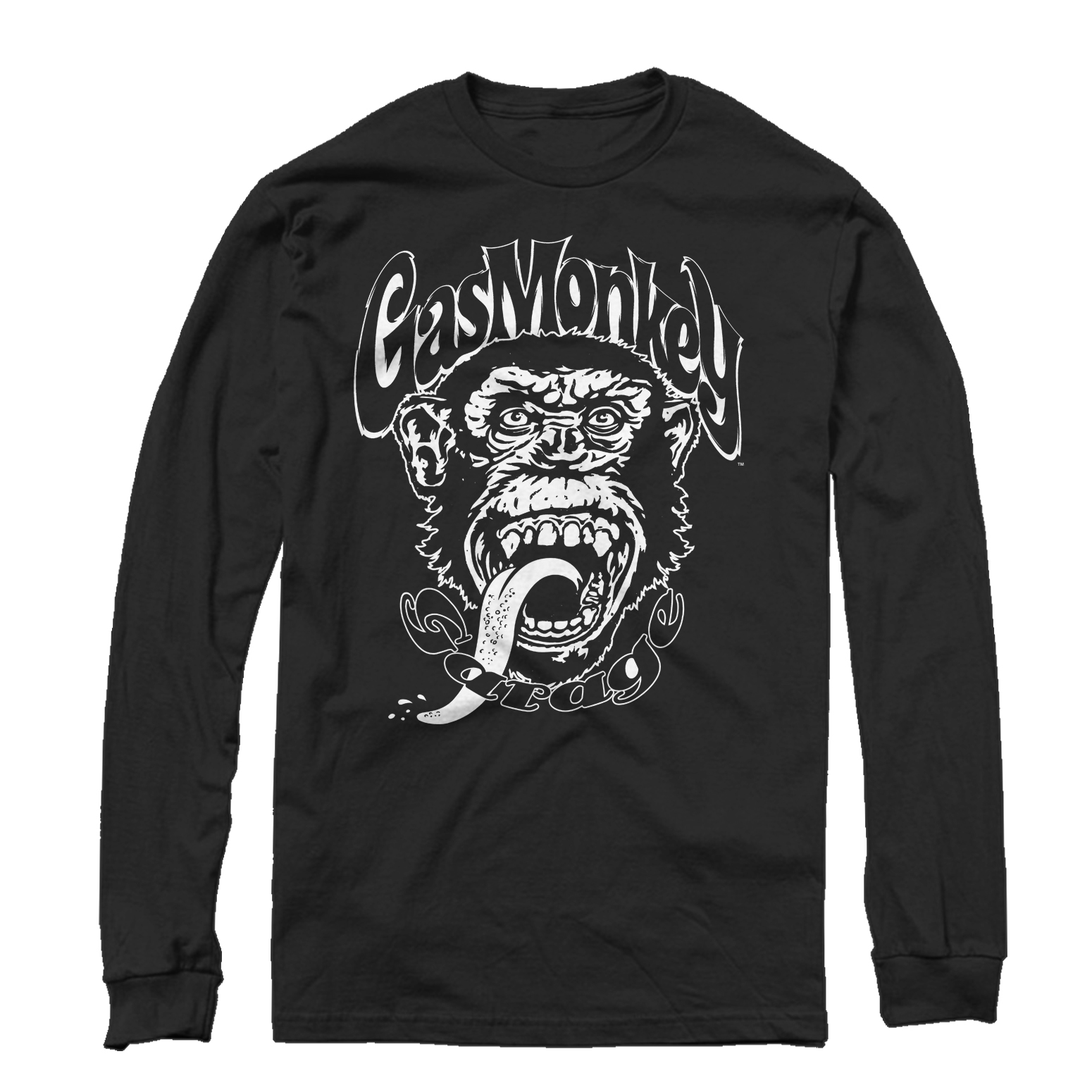 Gas Monkey Big Logo Mens Graphic Long Sleeve Shirt