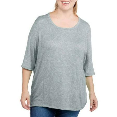 c2ad8c1daf272 Danskin Now - Danskin Now Women s Plus-Size Dolman Sleeve Top ...