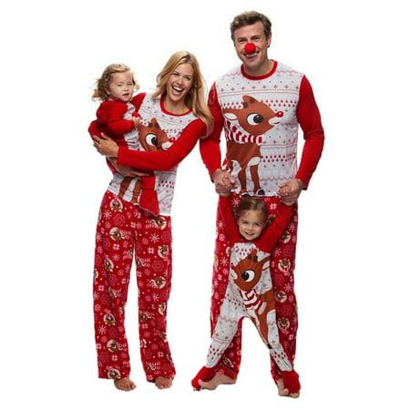 90e8018680 Ropalia - Ropalia Christmas Sleepwear Outfit Matching Family Pajamas ...