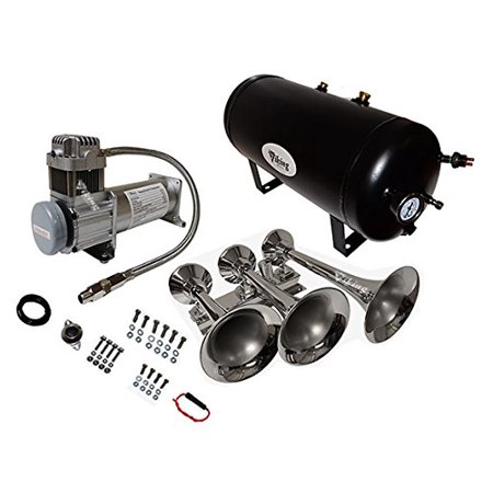 Viking Horns V103C-6/311-1 Three Trumpet 200 PSI Train Air Horn Kit (Intellitone 200 Kit)