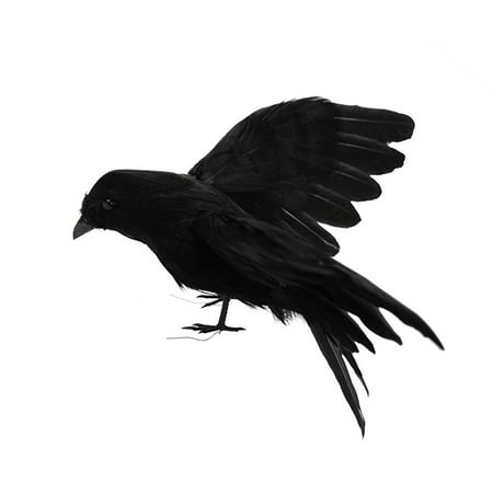 Lifelike Scary Raven Crow Prop Simulated Crow Realistic Bird Home Decoration Halloween - image 1 of 4
