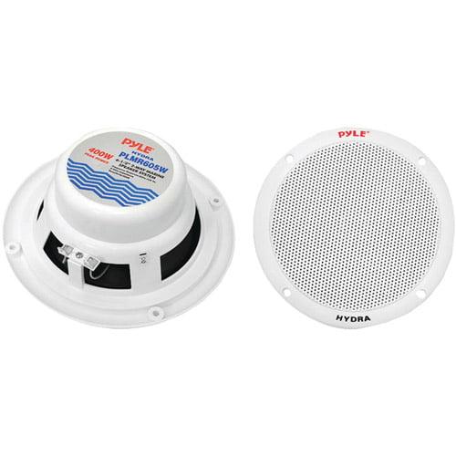"Pyle Plmr605w 6.5"" Dual-Cone Marine Speakers, White"