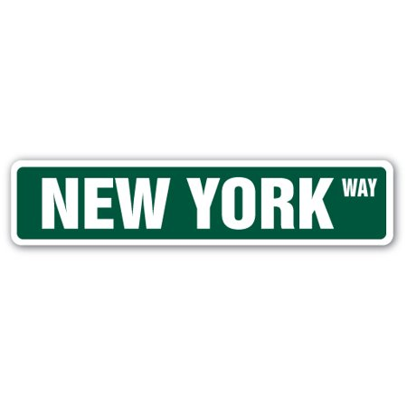 NEW YORK Street Sign NYC city Manhatten Broadway Times | Indoor/Outdoor |  24