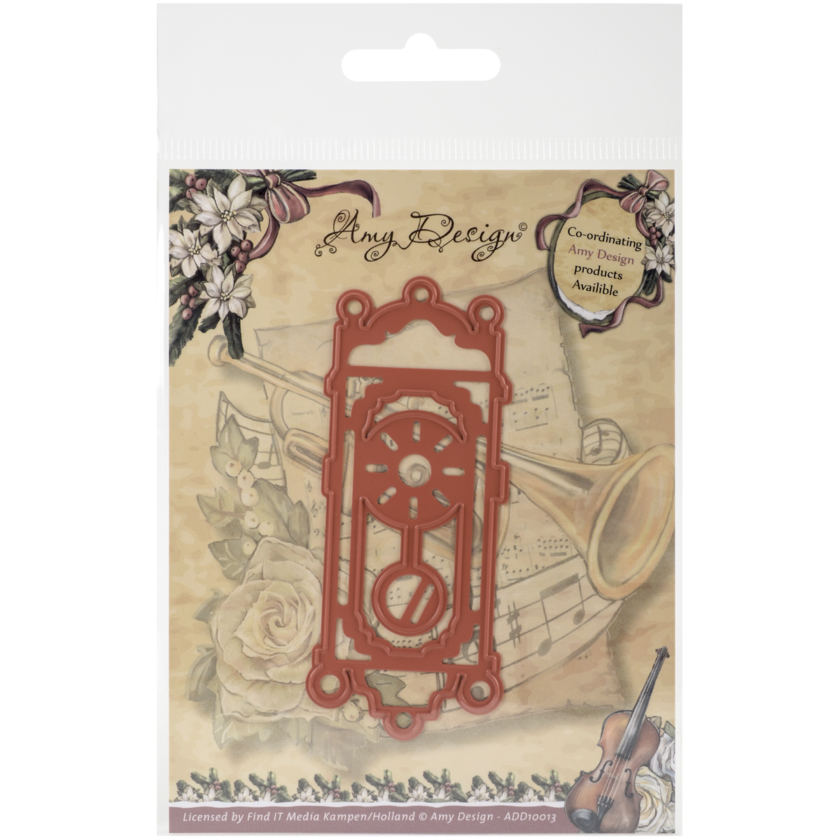 Find It Trading Amy Design Vintage Christmas Die, Old-Fashioned Clock