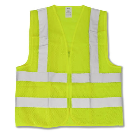 Neon Green Safety Vest - Neiko Neon Green ANSI Approved Safety Vest XLarge
