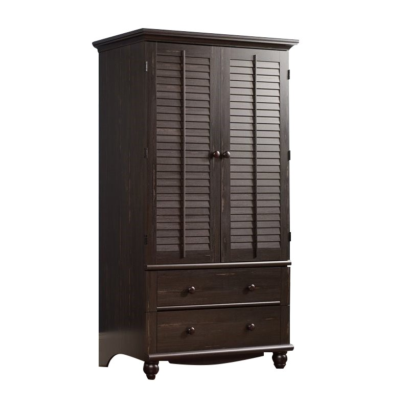 Sauder Harbor View Armoire, Antiqued Finish - Walmart.com