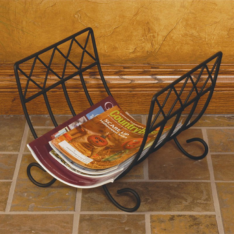 J & J Wire Wrought Iron Magazine Rack by J&J Wire Inc.