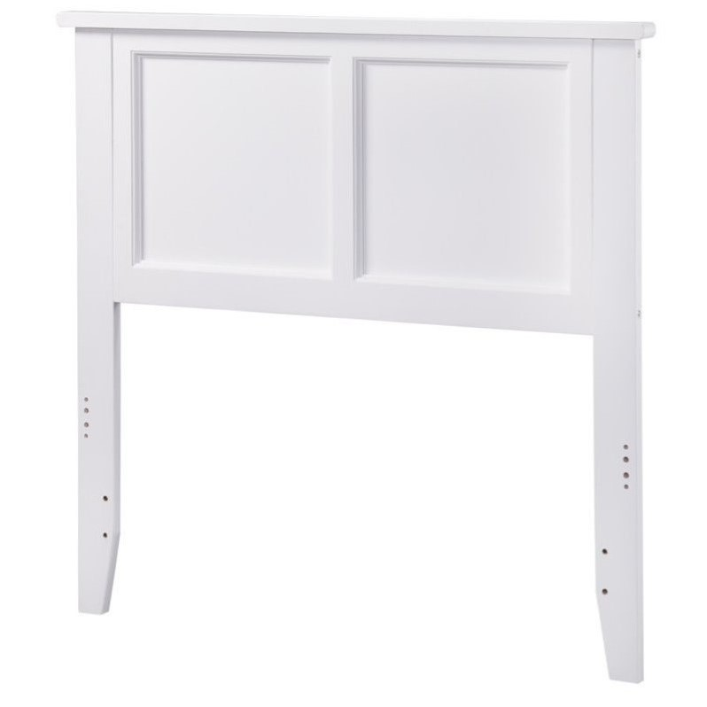 Atlantic Furniture Madison Panel Headboard in White by Atlantic Furniture