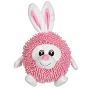 Silly Shaggies Soft Plush Ball Shaped Dog Toys - Choose Bear Duck Bunny Or All 3 (Bunny)