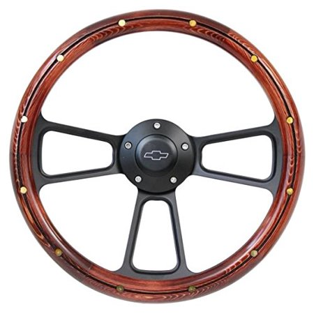 1969-1994 Chevrolet Impala, Caprice Wood Steering Wheel, Horn   Full Adapter - Chevrolet Caprice Auto Accessories