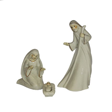 Holy Family Porcelain - Kurt Adler Porcelain Holy Family Set of 3 Pieces