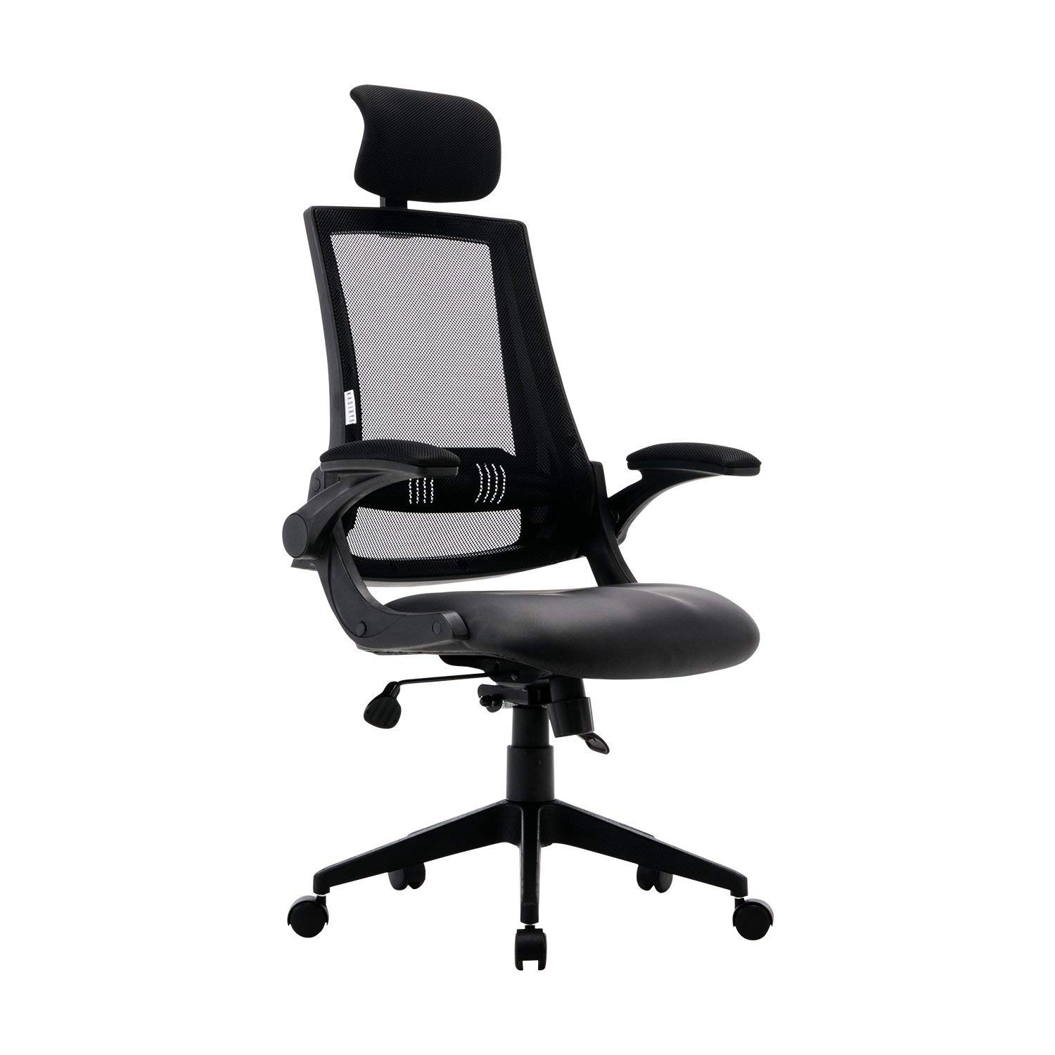 Kadirya High Back Ergonomic Mesh Office Chair With Leather