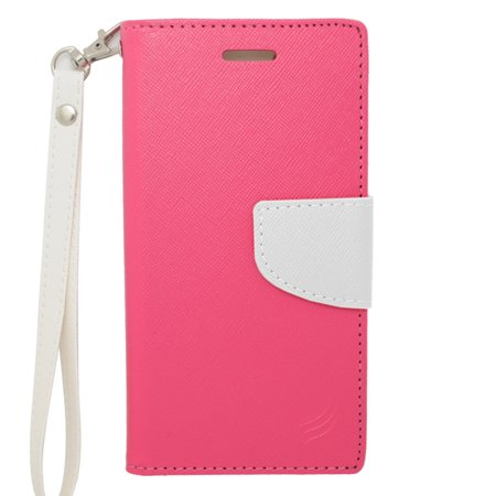 Insten Leather Cover Case with Lanyard & Photo Display For Apple iPhone 6s / 6 - Pink/White - image 4 of 4