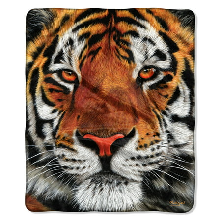 """American Heritage, """"Tiger Face"""" Throw Blanket, 50?x 60?"""