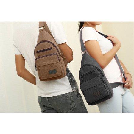 b2a05c2fec6e 2018 New Men Military Canvas Messenger Shoulder Bag Sling Travel Tactical  Backpack Chest Bag Image 1