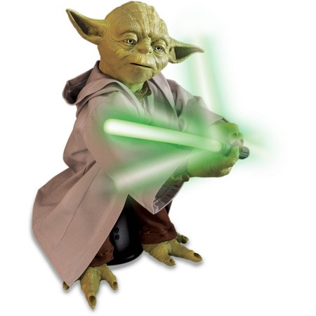 Star Wars Legendary Jedi Master Yoda - Jedi With Green Lightsaber
