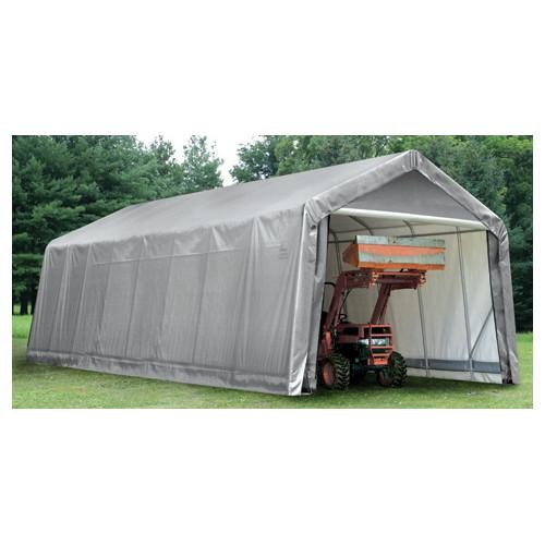 14' x 36' x 16' Peak Style Shelter, Green