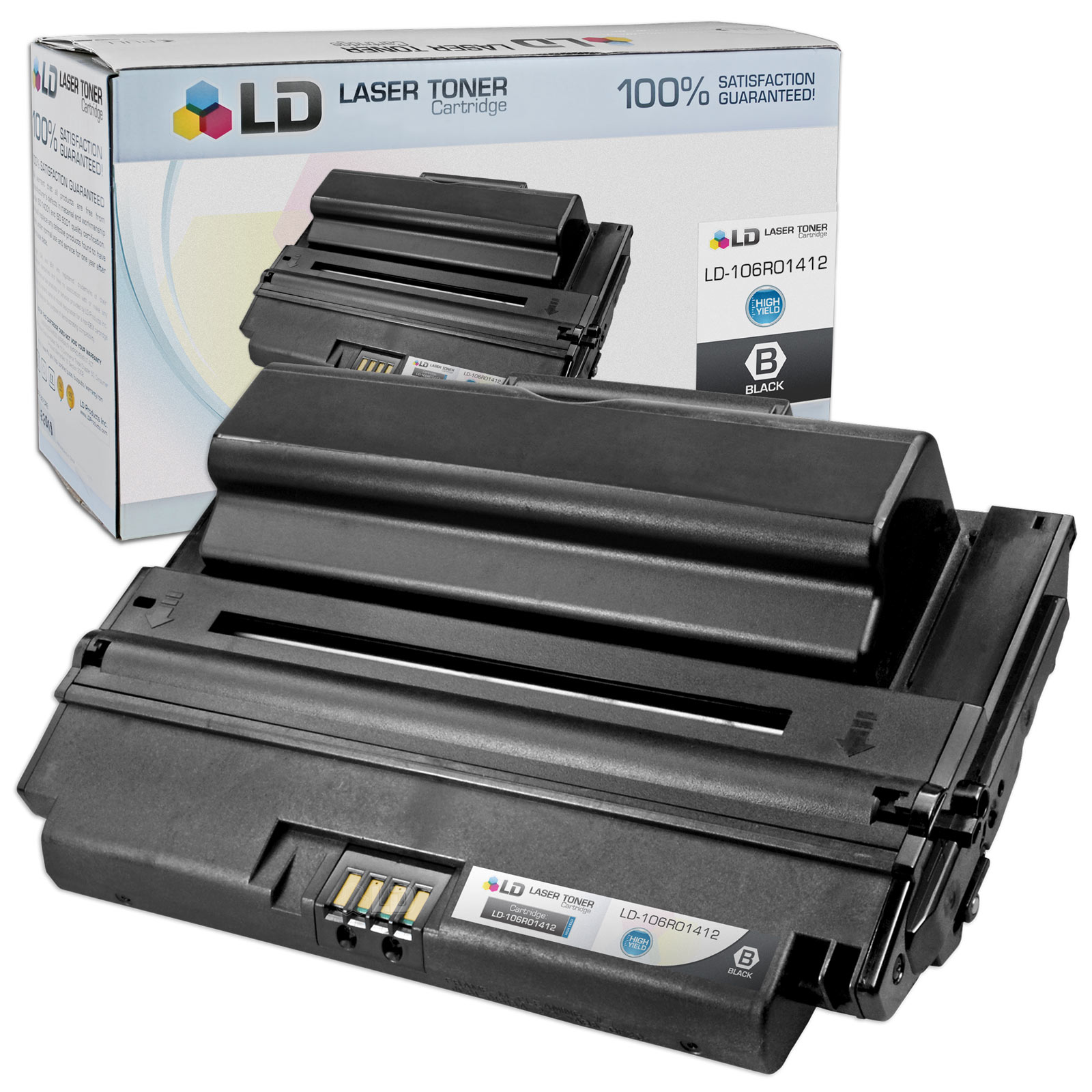 LD Compatible Replacement for Xerox 106R01412 High Yield Black Laser Toner Cartridge for use in Xerox Phaser 3300MFP