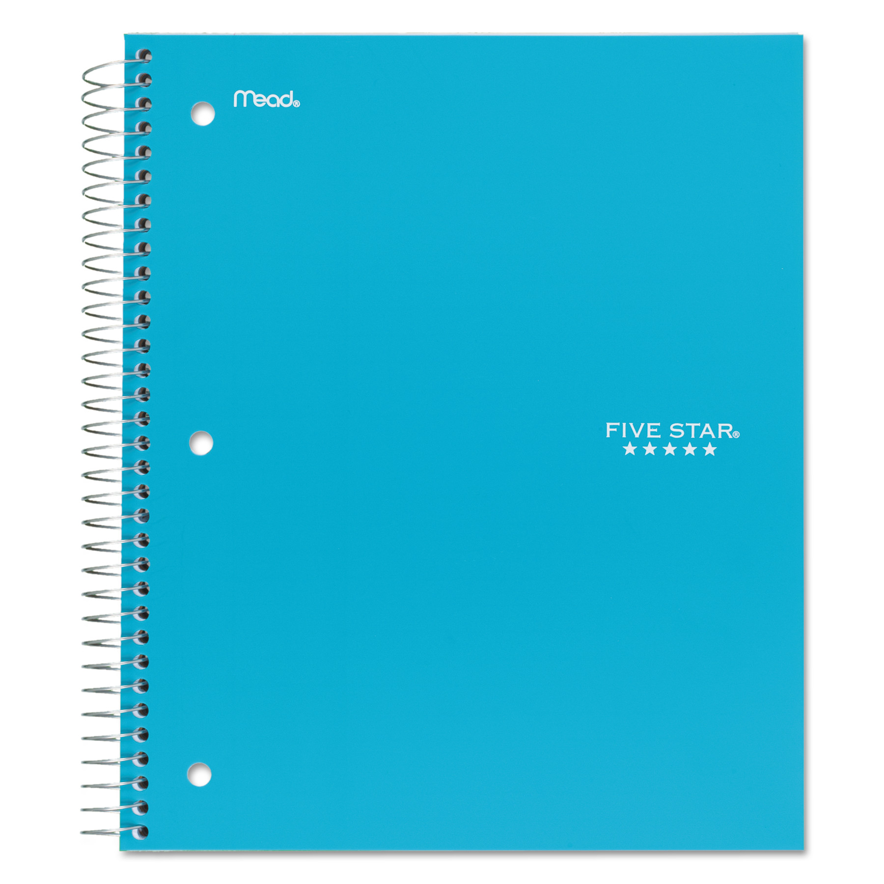 Five Star Wirebound Notebook, College Rule, 11 x 8 1/2, 100 Sheets, Navy Blue