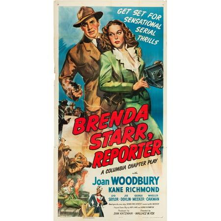 Brenda Starr Reporter L-R Kane Richmond Joan Woodbury On Us Poster Art 1945 Movie Poster Masterprint ()