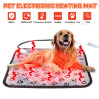 Pet Heating Pad Electric Heated Mat Waterproof Cushion Blanket Temperature Control Pet Bed Winter Warm Heater Christmas Gift for Puppy Dog Cat