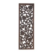 Decmode 36 X 12 Inch Traditional Floral Wooden Wall Panel