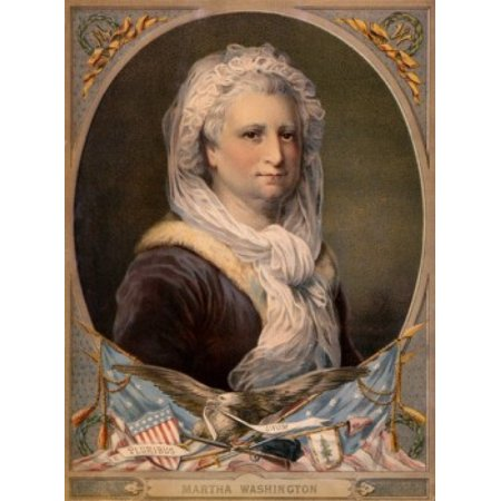 Martha Washington Wife of the 1st President of the United States American History Artist Unknown Canvas Art - (18 x 24)