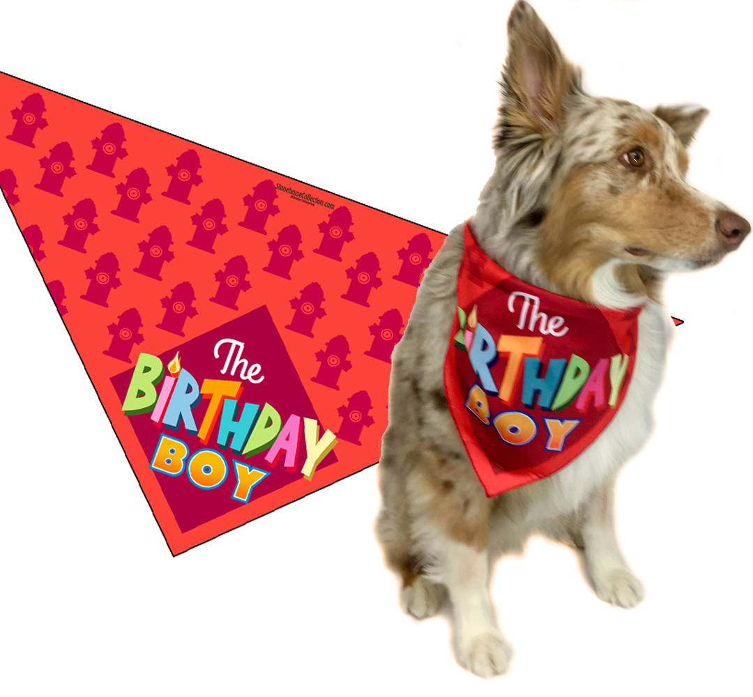 Dog Birthday Cake Squeaky Toy and Dog Birthday Boy Bandana Scarfs Flag with Soft Stuffing Party Supplies for Big Medium Large Dogs