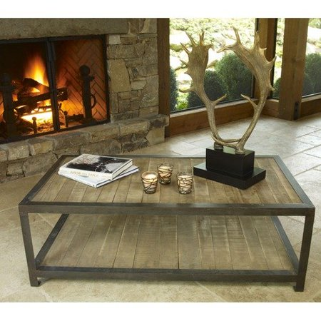 Napa Home And Garden Aspen Rustic Wood Coffee Table