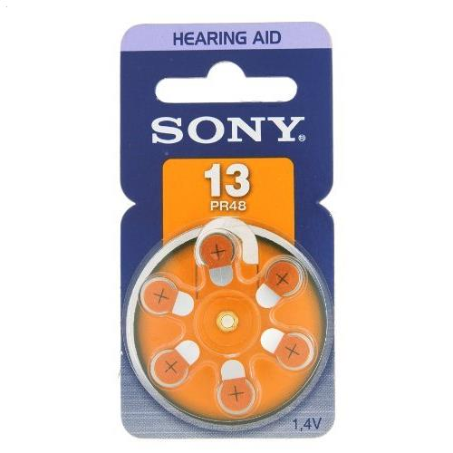 Sony 13 PR48 Hearing Aid Battery Zinc Air Zinc Air 1.4V DC