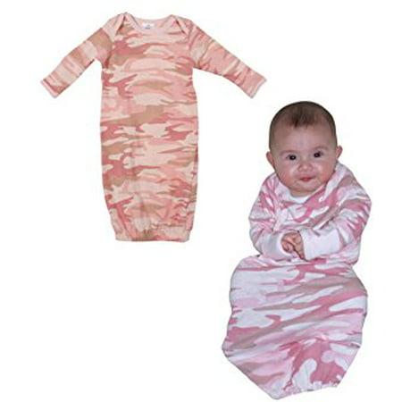 edb793cc7477 Rothco - Infant Baby Pink Camo L/S One Piece Sleeper - Walmart.com