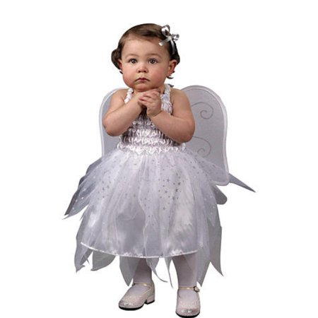 Fun World Infant Girls Baby Angel Costume Dress with Wings 12-24 Months Angel Wings Baby Tee