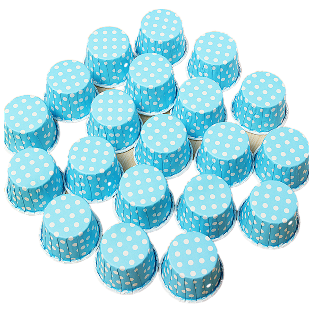 SKU170389 20Pcs Cupcake Liner Muffin Candy Nut Snack Greaseproof Dessert Baking Cups 6 Colors
