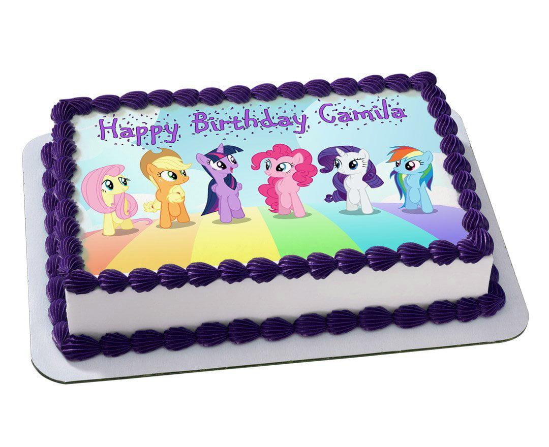 My Little Pony Quarter Sheet Edible Photo Birthday Cake Topper