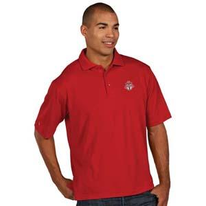 Toronto FC Mens Pique Xtra Lite Polo Shirt (Color: Red)