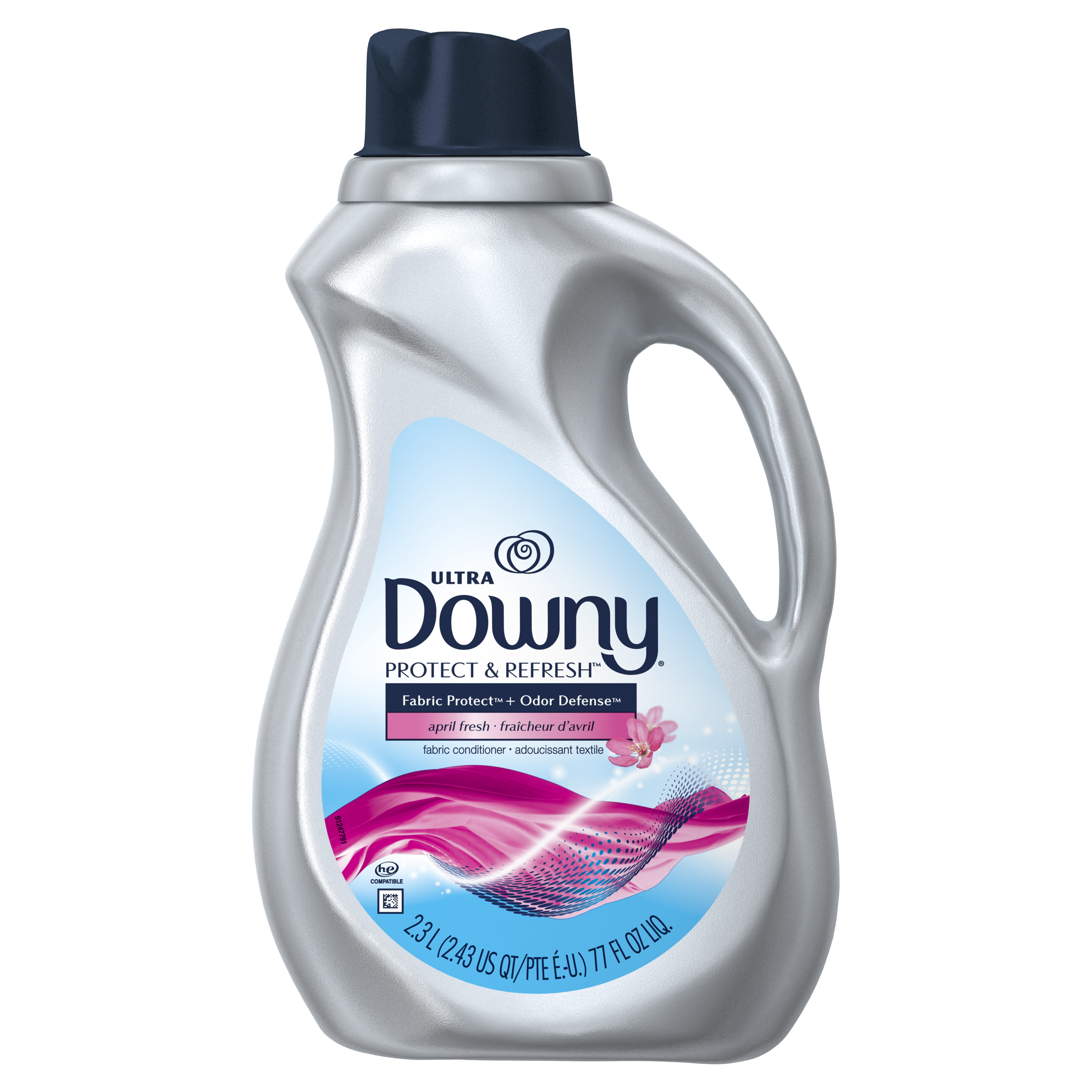 Downy Protect & Refresh, April Fresh, Liquid Fabric Conditioner (Fabric Softener), 77 fl oz
