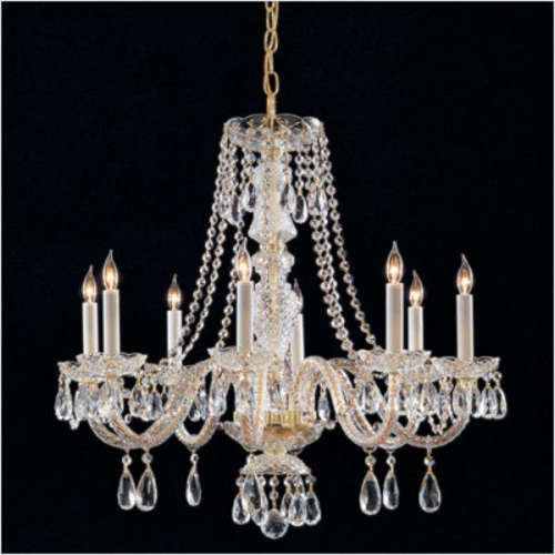 Lumens Bohemian Crystal 6 Light Chandelier With Crystals