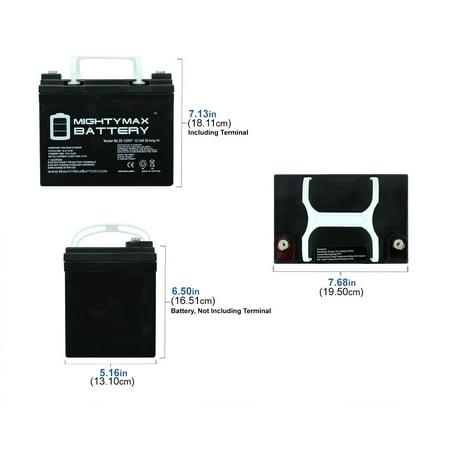 12V 35AH SLA Internal Thread Battery for Titan Front Whesel Power - image 3 of 6