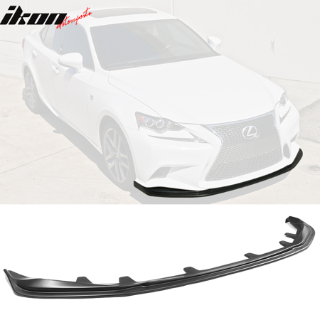 Fits 14-16 Lexus IS250 IS300 IS350 F Sport Front Bumper Lip Matte Black - PP