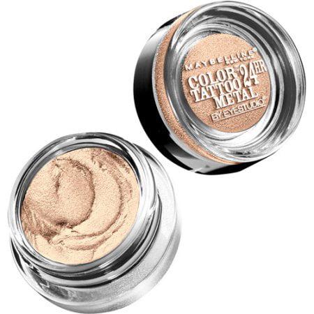 Maybelline Eyestudio Colortattoo Metal 24hr Cream Gel Eye Shadow Barely Branded