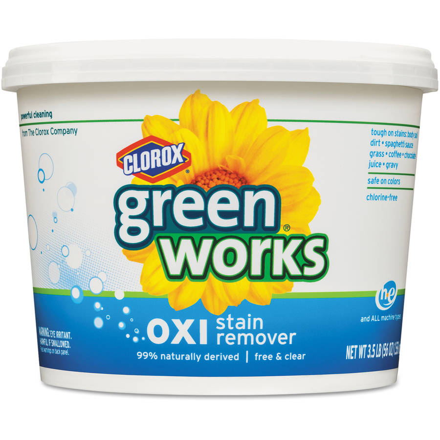 Green Works Oxi Stain Remover, Free and Clear, 56 Ounces